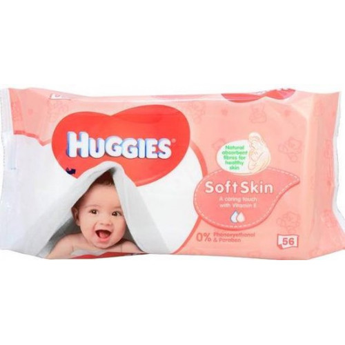 Huggies Babywipes Softskin 56pcs