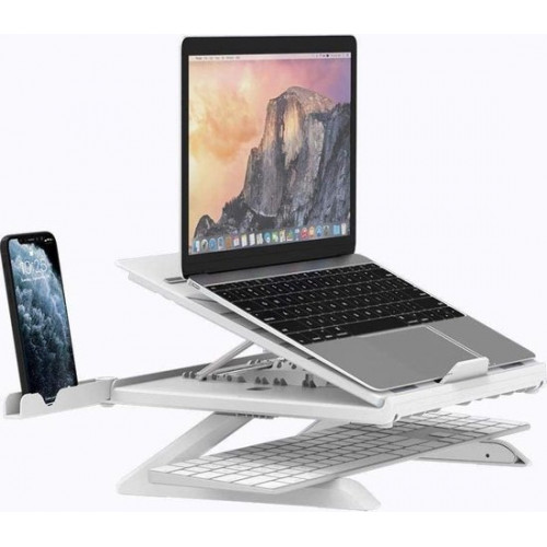 TRON Laptop stand - Ergonomic - Adjustable - 10 to 17 inch - 9 positions - Foldable laptop stands
