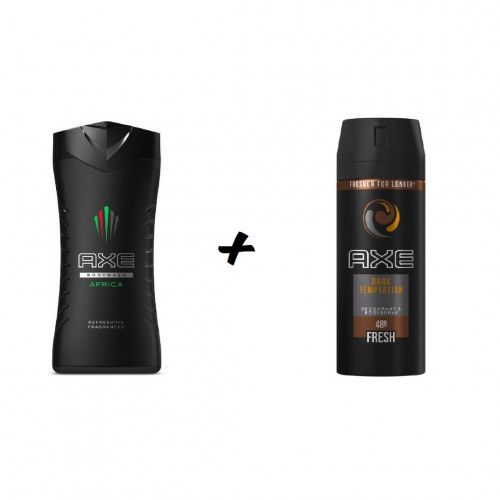 Axe Africa Showergel  250 ml+ Axe Dark Temptation 150 ml Combideal