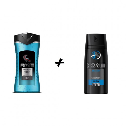 Axe Anarchy Deodorant 150 ml + Axe Sport Blast Showergel 250 ml Combideal