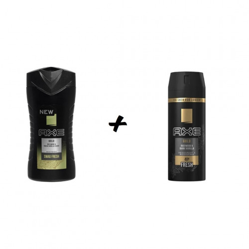 Axe Gold Bodyspray Deodorant 150 ml + Gold Showergel 250 ml Combideal