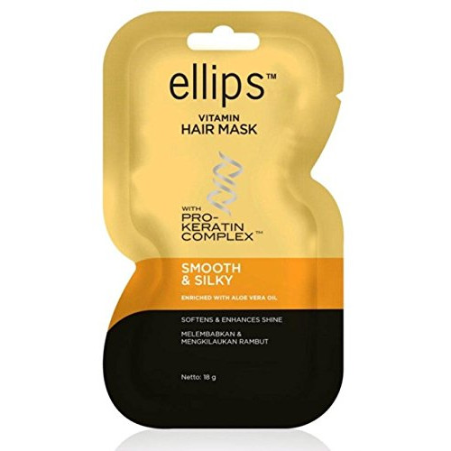 Ellips Hairmask Smooth & Silky with Pro Keratin 2pack - 2x20gr
