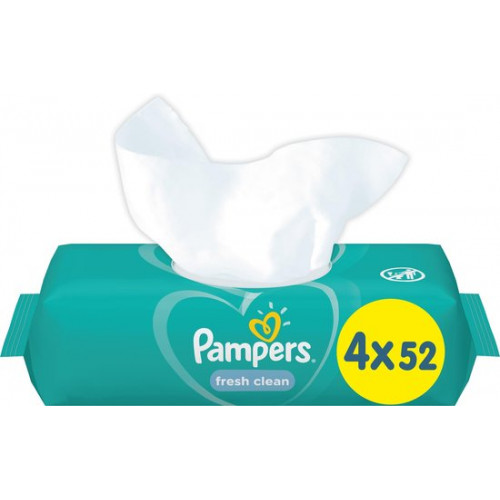 Pampers Fresh Clean Babywipes (208 wipes) - 4 pack
